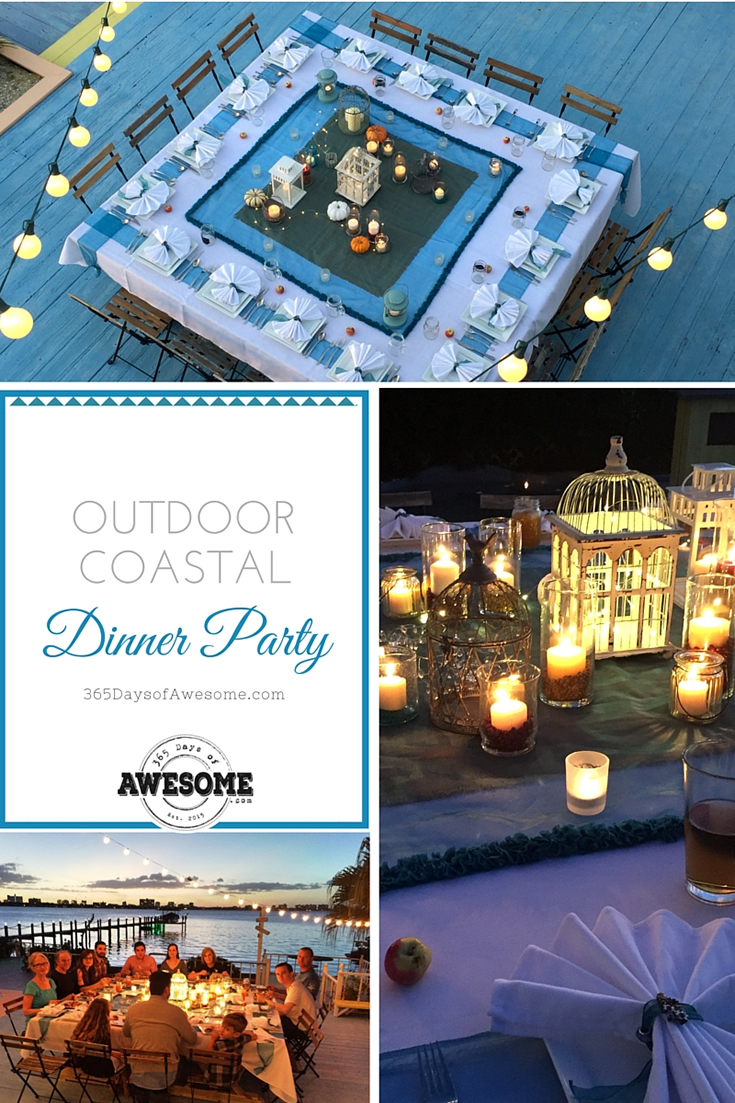 Outdoor Coastal Dinner Party